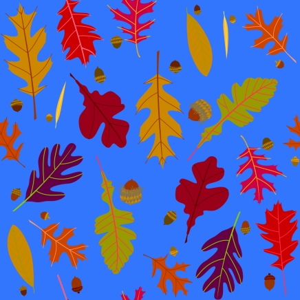 autumn oaks pattern