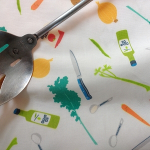 cooking with vegetables fabric
