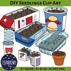DIY seedlings clip art tpt preview