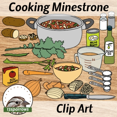 cooking minestrone