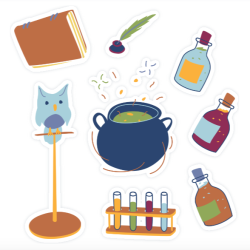 potions sticker set