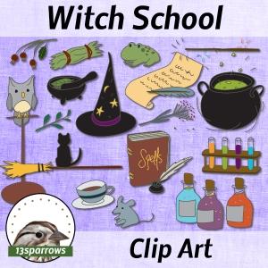 Witch School Clip Art