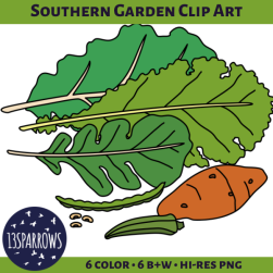 southern garden clip art tpt preview