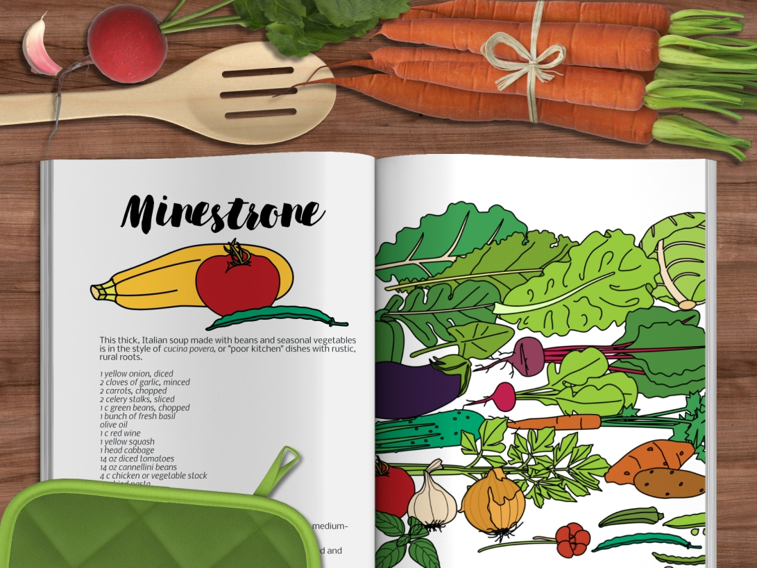 Garden vegetables magazine mockup.