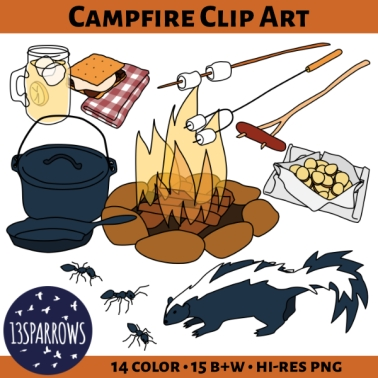 Time to roast hot dogs and marshmallows on the campfire!