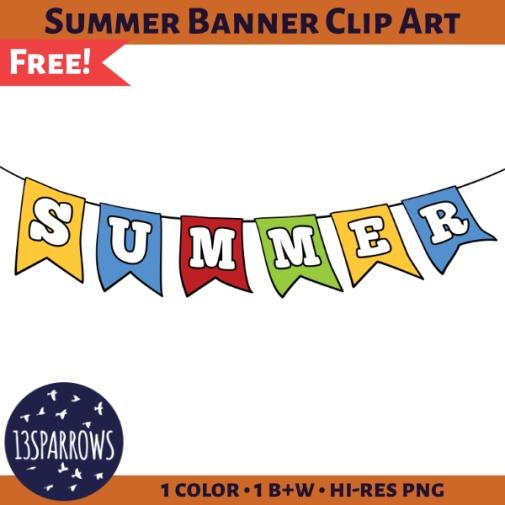 summer banner clip art tpt preview