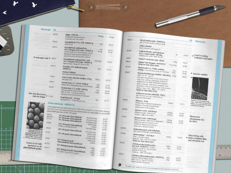 scientific supplies catalog design