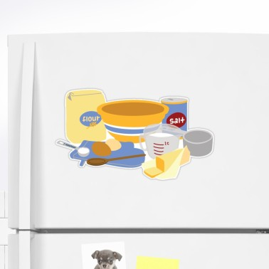 baking with the kids sticker from Redbubble.